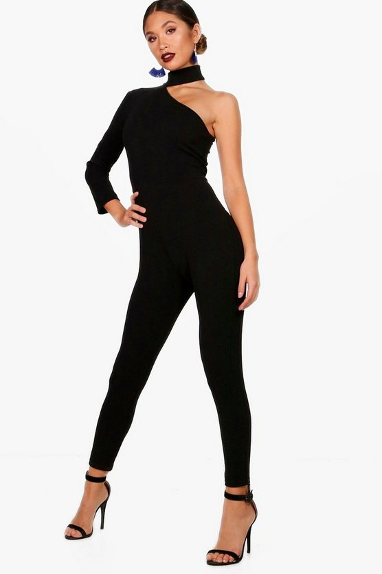 Buckle Detail Asymmetric Jumpsuit