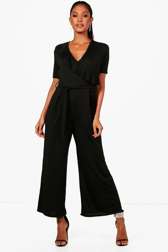 Isla Frill Wrap Front Culotte Jumpsuit