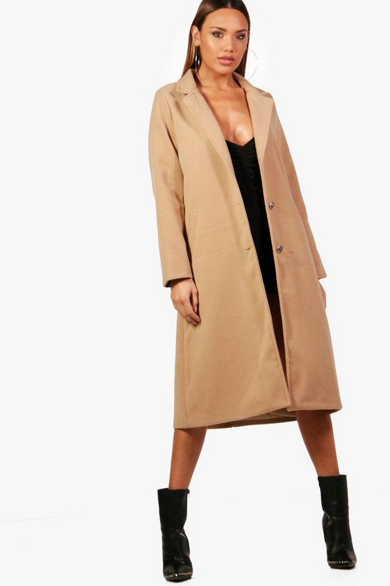 Rhea Longline Wool Look Coat