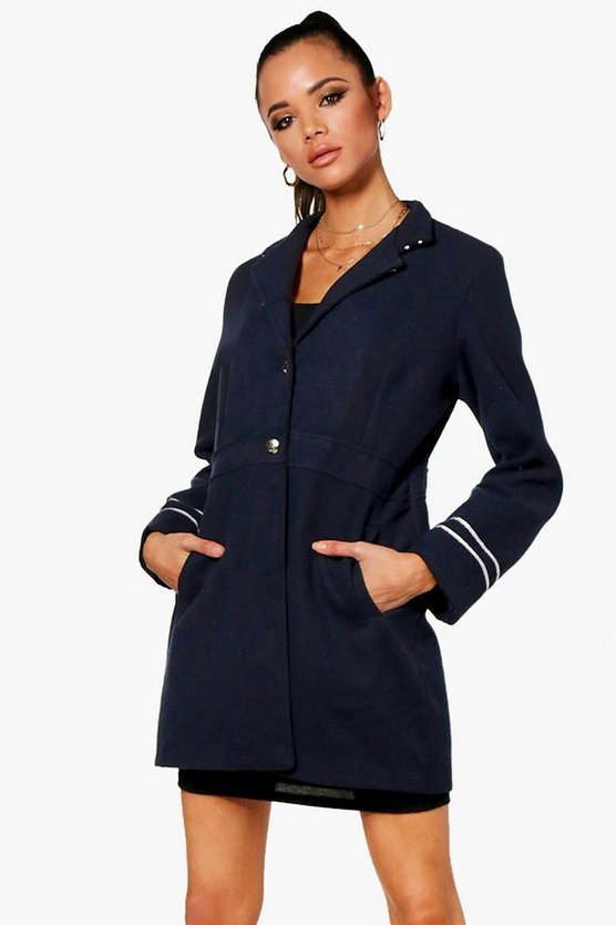Military Wool Look Coat