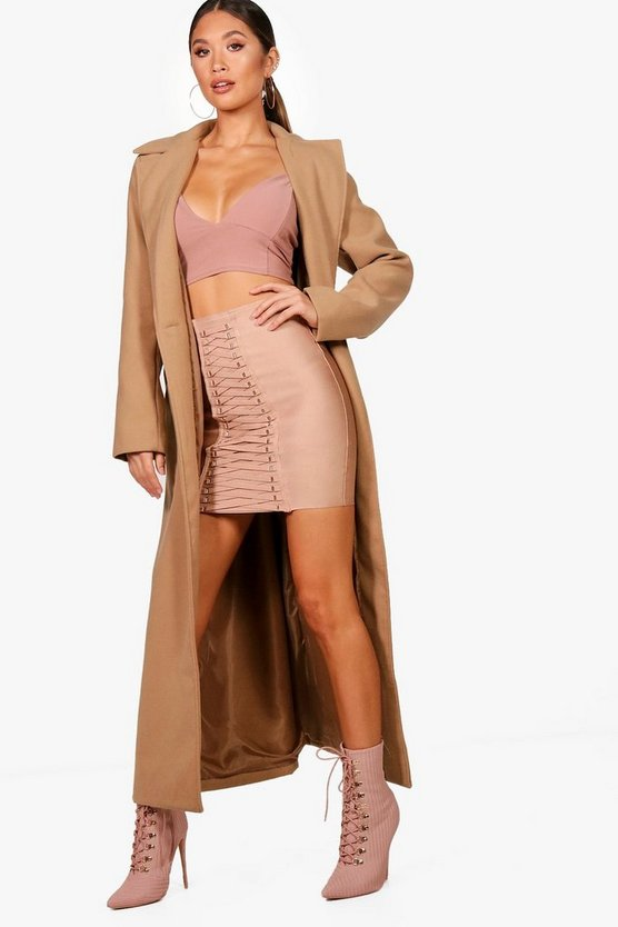 Maria Longline Wool Look Coat