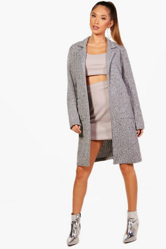 Faye Textured Wool Look Coat