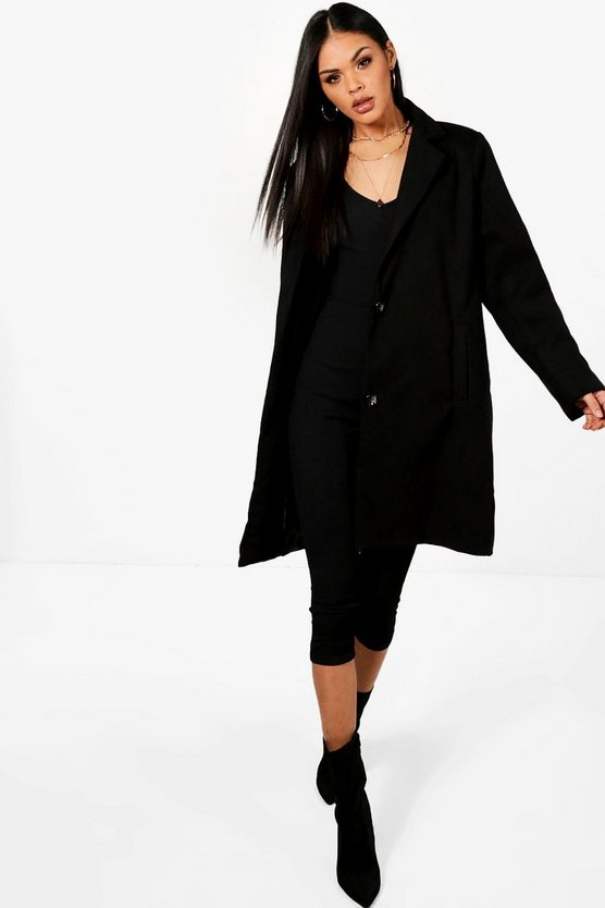 Lucinda Collared Wool Look Coat