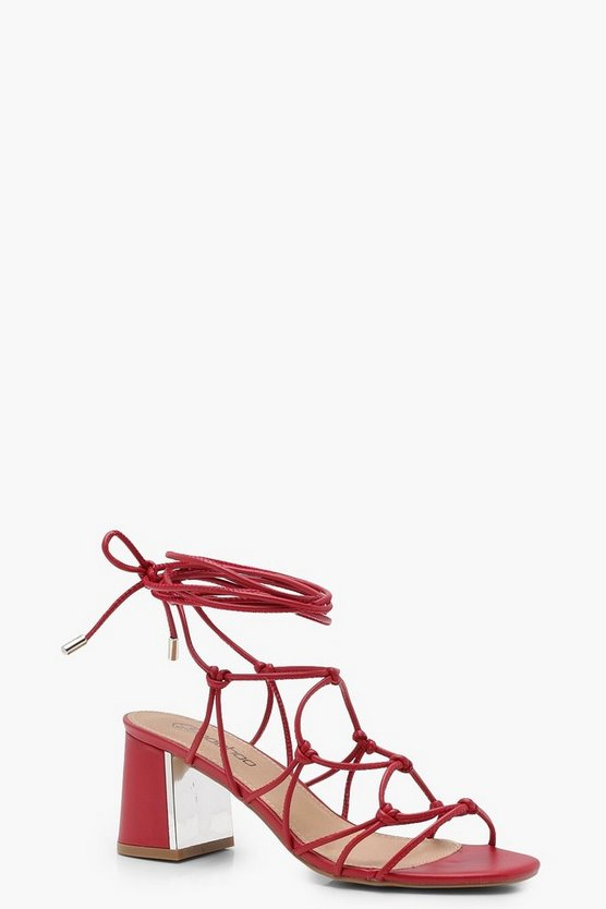 Cage Tie Up Gladiator Sandals