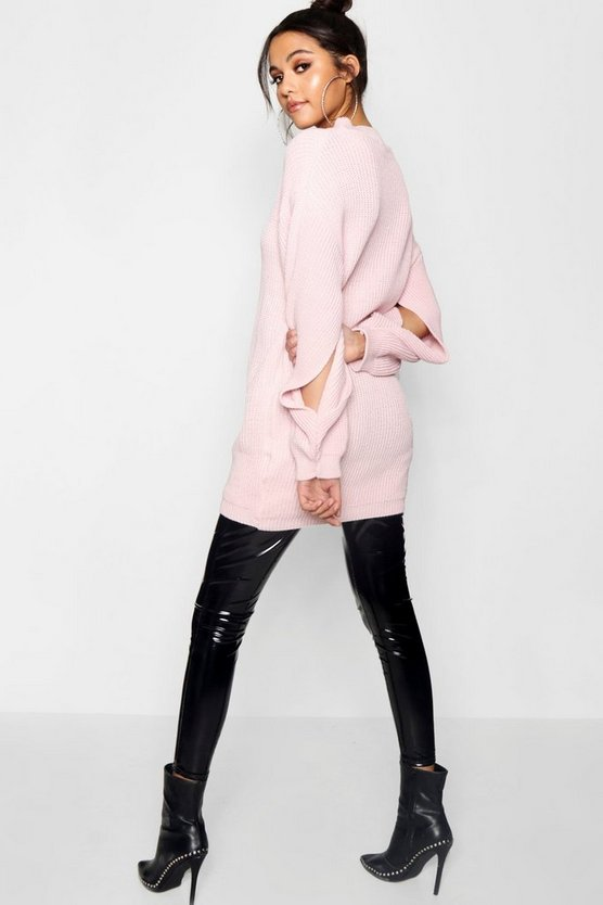Balloon Split Sleeve Oversized Jumper