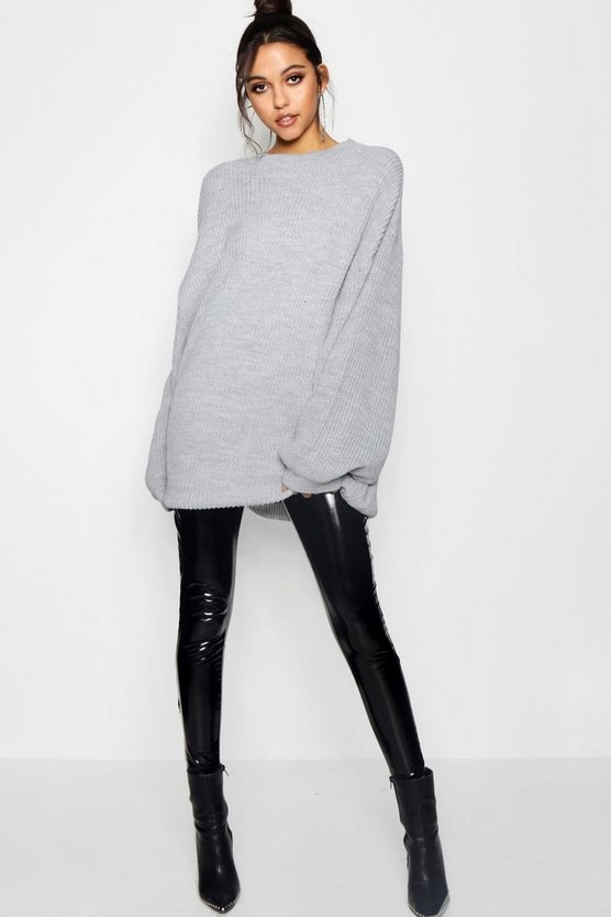 Sadie Balloon Split Sleeve Oversized Jumper