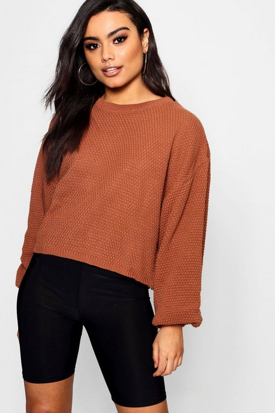 Isabel Oversized Wide Sleeve Crop Jumper