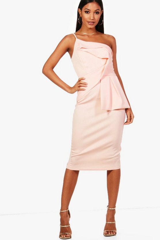 Sophia Origami Detail Midi Dress