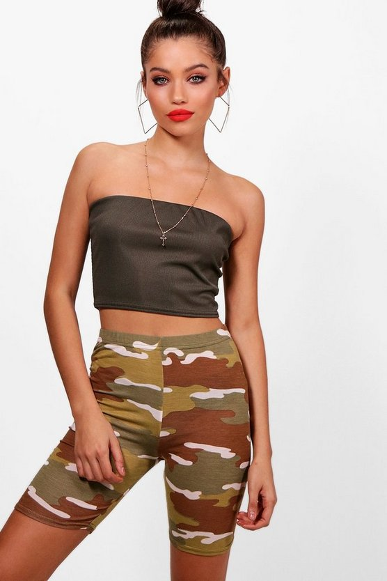 Bethan Camo Print Cycling Shorts