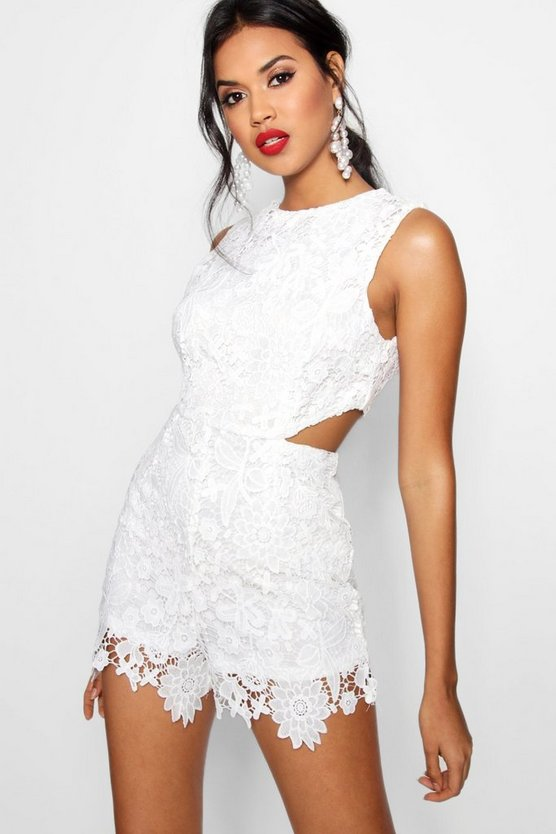Boutique Crochet Cut Side Playsuit