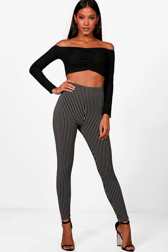 Ribbed Stripe Highwaist Leggings