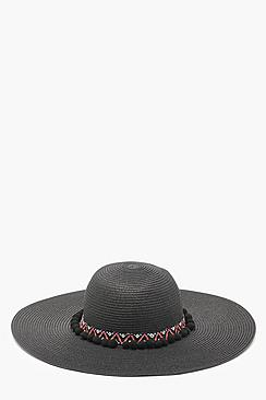 Azteco cappello floscio con pompon