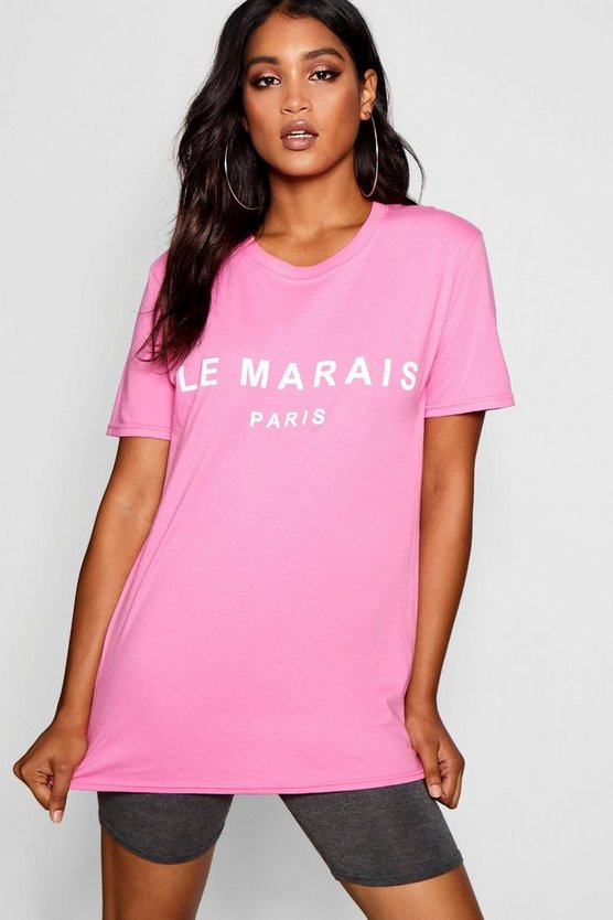 Marais Paris Slogan Tee
