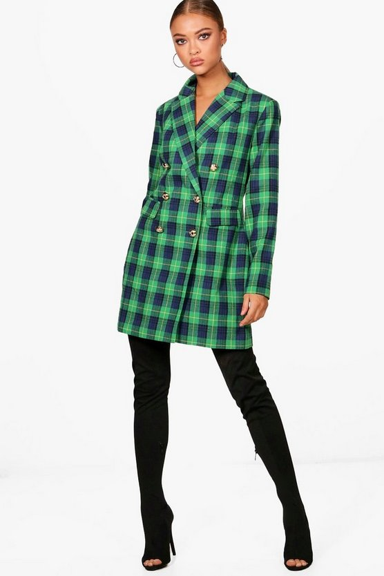 robe Blazer carreaux Daniella