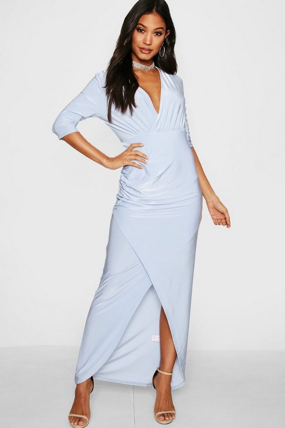 Hannah Wrap Top Slinky Maxi Dress
