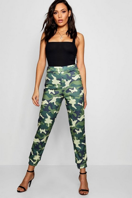 Tessa Camo Fleece Lined Jogger Pant
