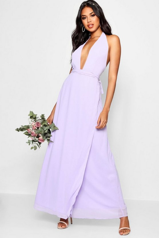 Boutique Lola Chiffon Halterneck Maxi Dress