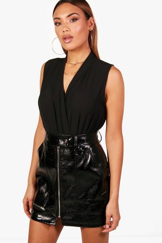 Anna Sleeveless Wrap Bodysuit