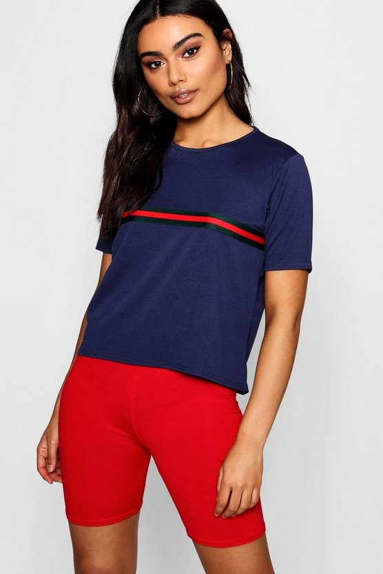 Sports Stripe Placement T-Shirt