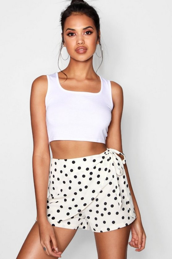 Wrap Over Polka Dot Skort