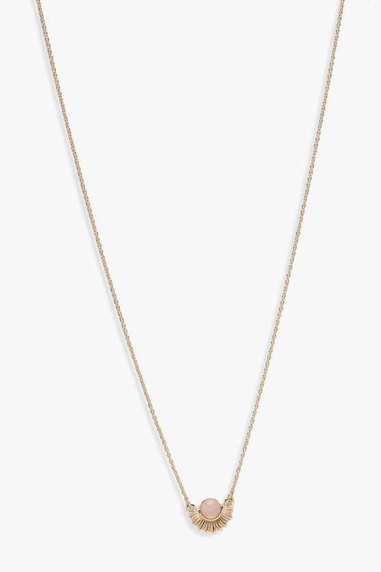 Kerry Sun Stone Skinny Necklace