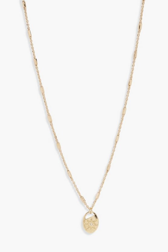Hayley Diamante Star Pendant Skinny Necklace
