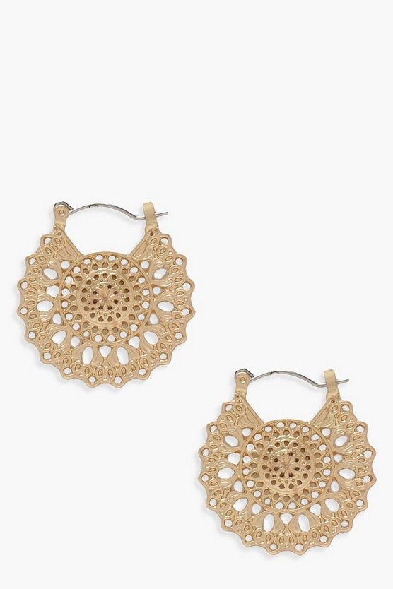 Linda Boho Filigree Hoop Earrings