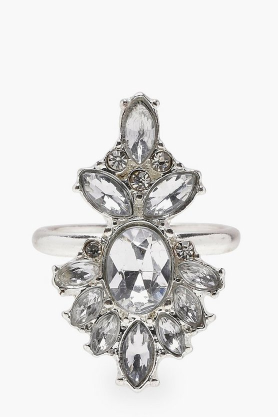 Joanne Art Deco Diamante Gem Ring