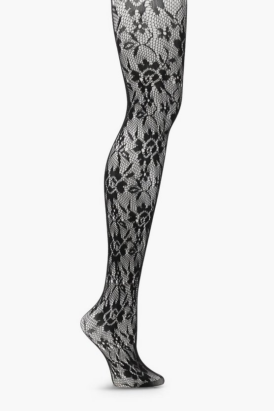 Rosie Floral Fishnet Tights