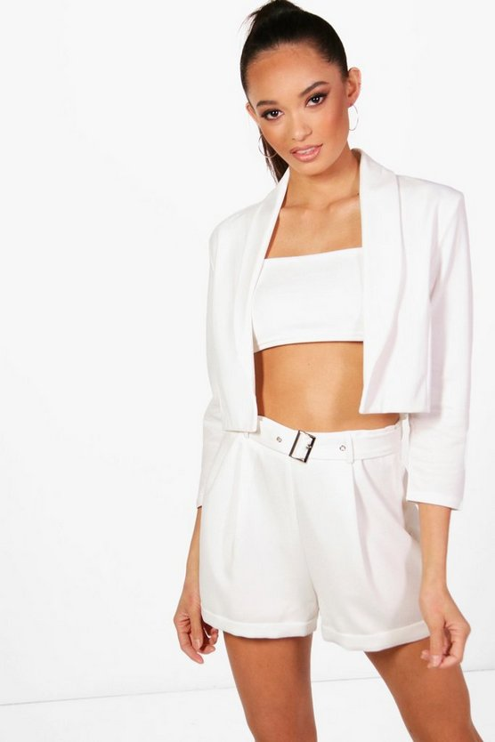 Annie Collared Crop Blazer