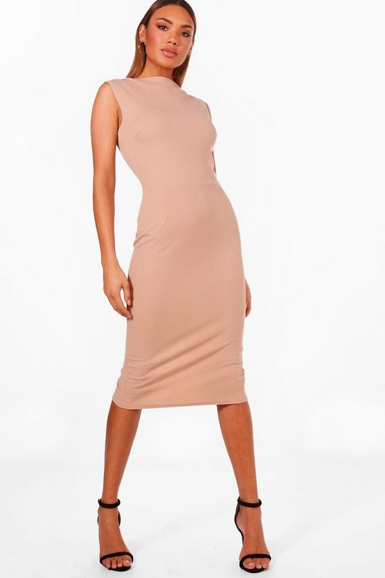 Fitted Sleeveless Midi Dress