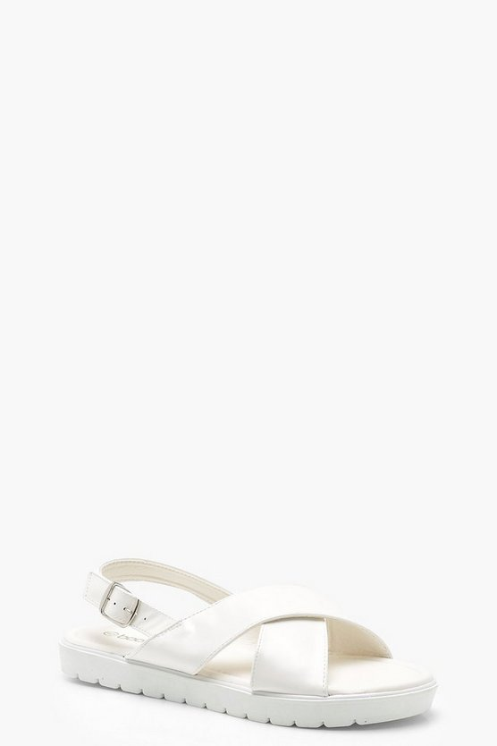 Megan Cross Strap Cleated Sandals