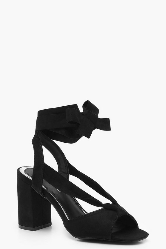 Layla Wide Fit Wrap Strap Heels
