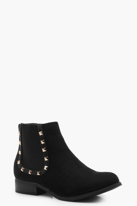 Julia Stud Trim Chelsea Boot