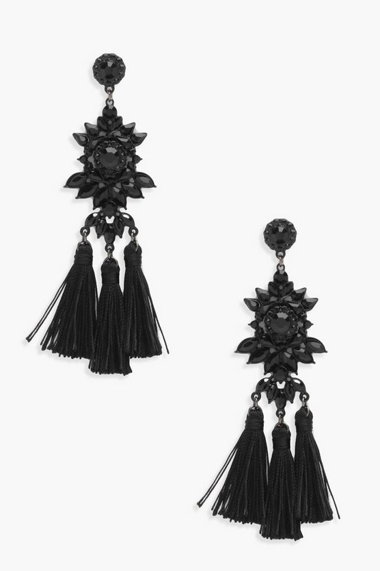Evie Diamante Tassel Earrings
