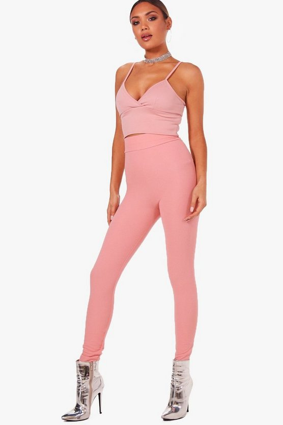 roxy legging basic in crepe a vita alta