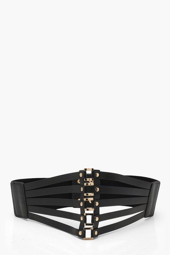 Erin Square Metal Laser Cut Waist Belt