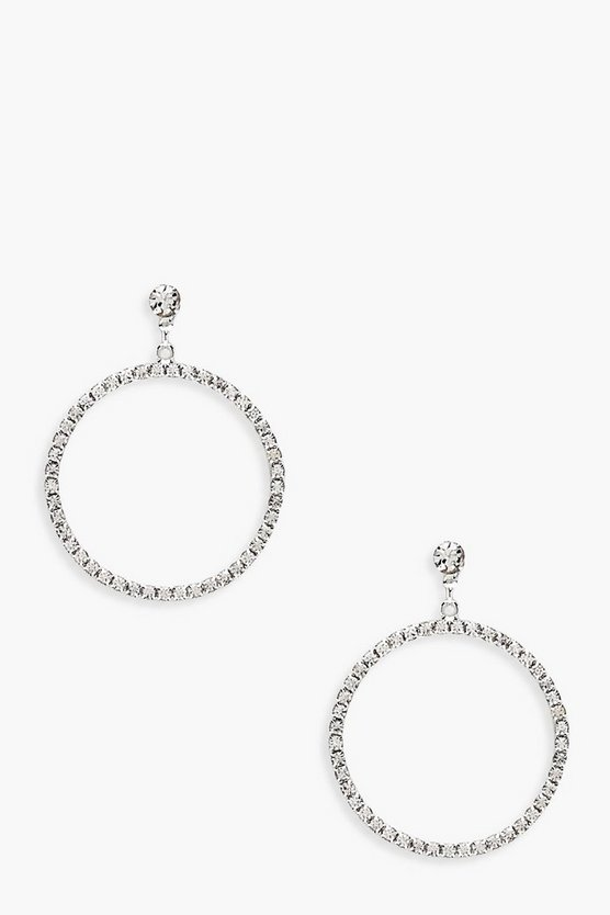 Ella Diamante Hoop Earrings