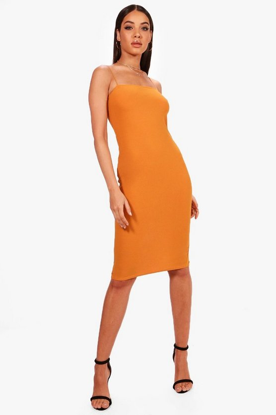 Ida Square Neck Midi Dress