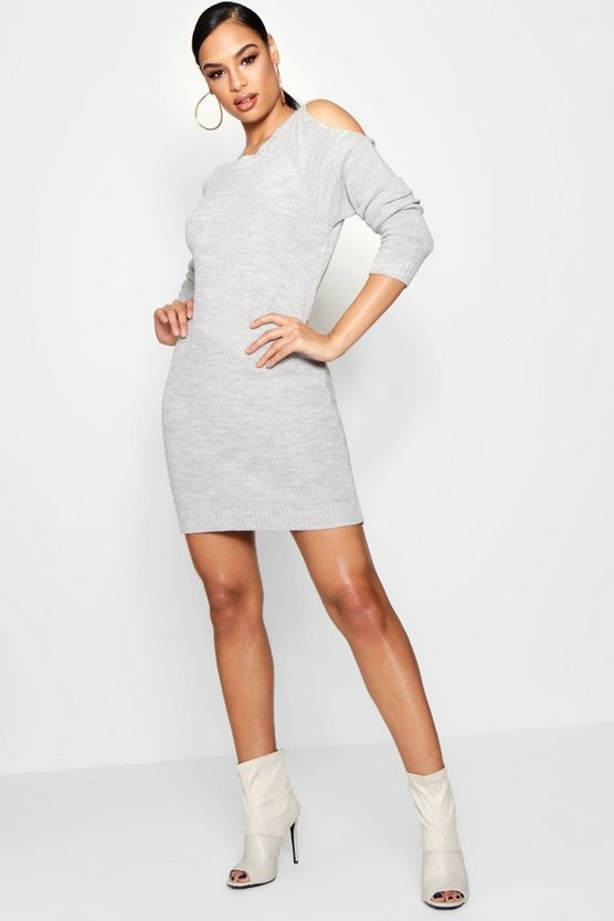 Diana Cold Shoulder Jumper Dress