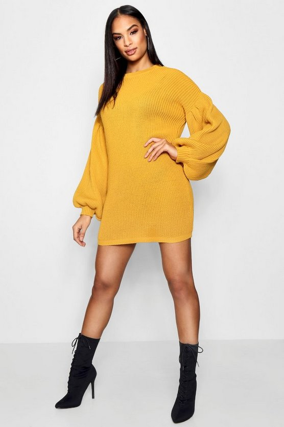Maddie Balloon Sleeve Jumper Dress