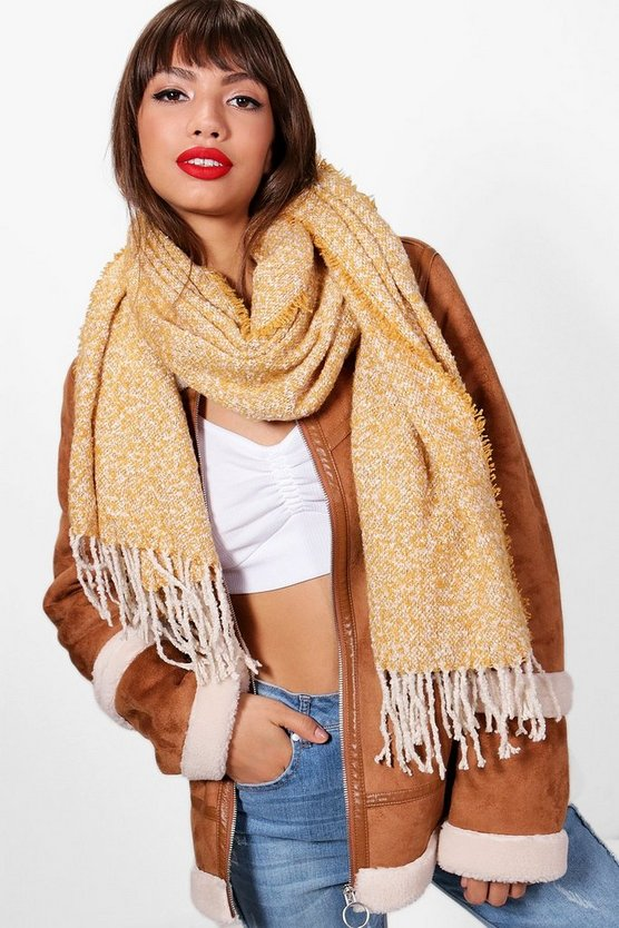 Lily Mixed Fleck Brushed Tassel Scarf