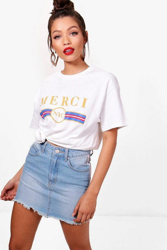Jade Merci Slogan-t-Shirt