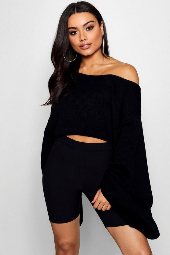 Wide Sleeve Knitted Box Crop