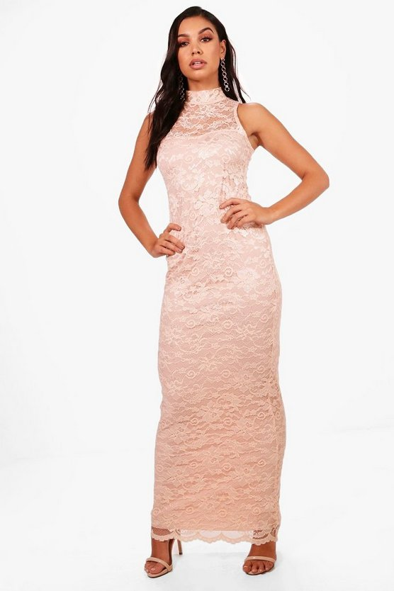 Lace Scallop Maxi Dress
