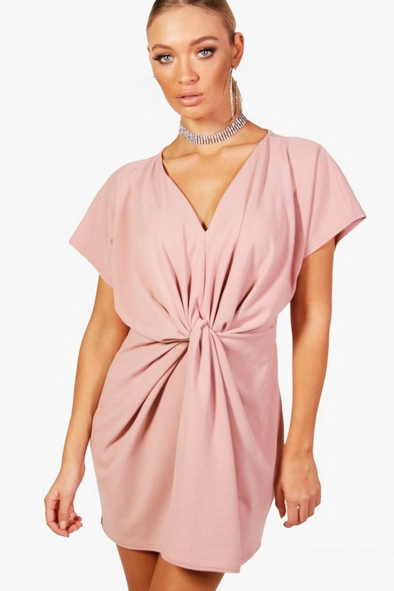 Twist Knot Front Detail Bodycon Dress