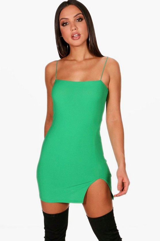 Josie Thigh Split Micro Mini Bodycon Dress