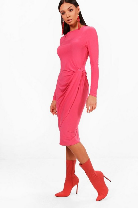 Bella Knot Detail Midi Dress