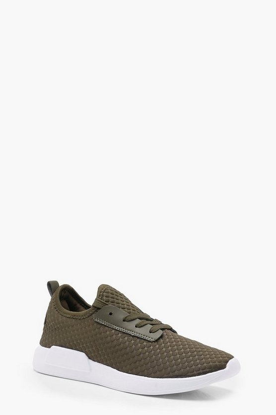 Grace Textured Lace Up Sports Trainers