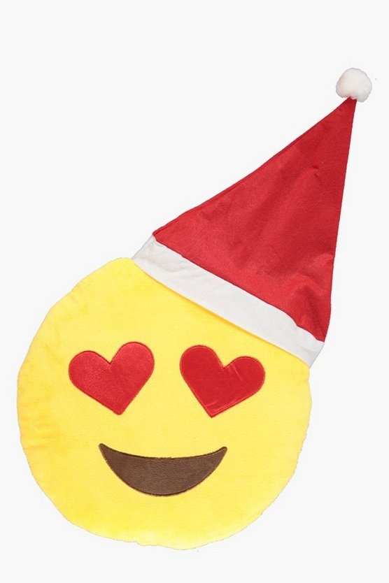 Love Struck Christmas Emoji Cushion